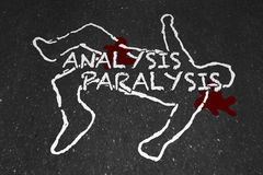 Analysis Paralysis Death by Overanalyzing Chalk Outline 3d Illus. Tration vector illustration
