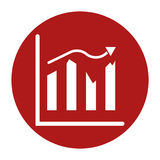 Analysis presentation icon. Business man analysing data. Chart i stock illustration Stock Photography