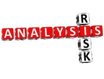 Analysis Risk Crossword. 3D Analysis Risk Crossword on white background Stock Photo