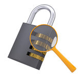 Analysis of security lock code Stock Photography
