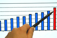 Analysis of statistics Stock Photo