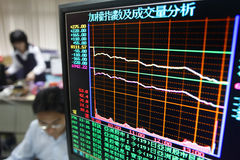 Analysis of stock market. The index of Taiwan's stock market drop 257 points at April. 19, 2010 royalty free stock image