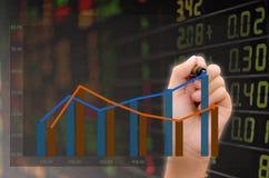 Analysis of stock market Royalty Free Stock Photo