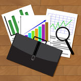 Analysis of stock market statistics Royalty Free Stock Images