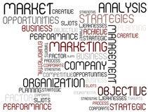Analysis tag cloud Stock Photo