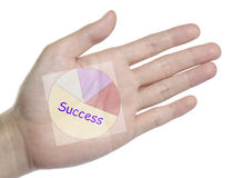 Analysis target chart on your hand Stock Images