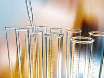 Analysis test tubes Royalty Free Stock Image