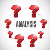 Analysis to questions illustration design Royalty Free Stock Photography