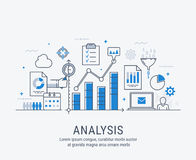 Analysis vector illustration Stock Images