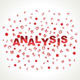 Analysis word with in alphabets Stock Photography