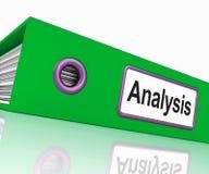 Analysmappen innehåller data och analyseringsdokument vektor illustrationer