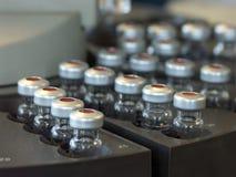 analysprövkopialiten medicinflaska Royaltyfri Bild