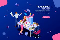 Analyst Financial Template for Website royalty free illustration