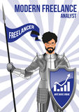 Analyst freelancer design concept Stock Images
