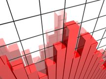 Analyst graph Royalty Free Stock Photo