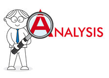 Analyst looking closely royalty free illustration