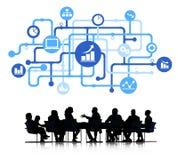 Analyste Group d'affaires avec le concept d'affaires illustration stock