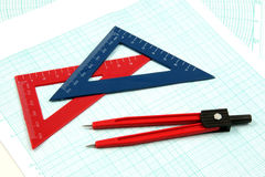 Analytic geometry gear Stock Photos