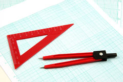 Analytic geometry tools Royalty Free Stock Photos