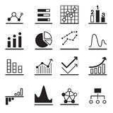 Analytic Graph icons Royalty Free Stock Photography