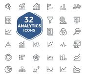 Analytic icons collection, vector. vector illustration