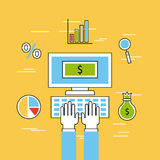 Analytic and investments flat. Icon vector illustration design graphic royalty free illustration