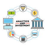 Analytic and investments flat Stock Photo