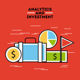 Analytic and investments flat Royalty Free Stock Photos
