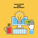 Analytic and investments flat Royalty Free Stock Photography