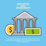 Analytic and investments flat Stock Images