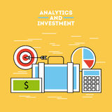 Analytic and investments flat Royalty Free Stock Image