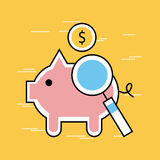 Analytic and investments flat pork Stock Photos