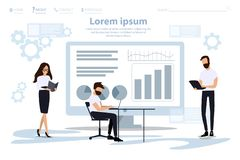 Analytic Research and Programming Landing Page.  stock illustration