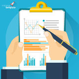 Analytic research and report. Vector mock up. Royalty Free Stock Photography