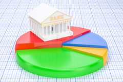 Analytical Banking concept, 3D. Rendering Royalty Free Stock Photography