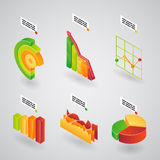 Analytical charts for infographics Stock Photos