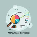 Analytical thinking thin line concept stock illustration