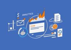 Analytics & επιχείρηση Isometric έννοια στοκ εικόνα
