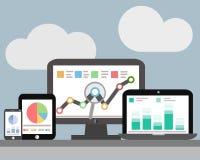 Analytics ιστοχώρου και analytics στοιχείων SEO Στοκ Φωτογραφία