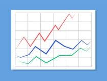 Analytics avec les lignes colorées illustration de vecteur Photo stock