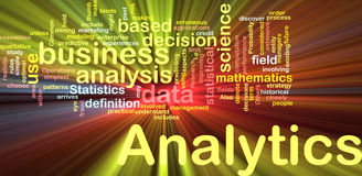 Analytics background concept glowing Stock Photography