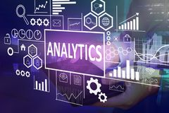 Analytics in Bedrijfsconcept royalty-vrije stock fotografie