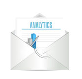 Analytics on business mail illustration Stock Image