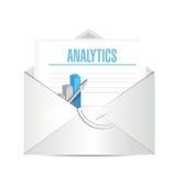 Analytics on business mail illustration Stock Image