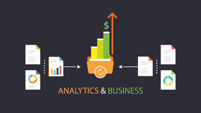 Analytics & business. Analytics for business management, Sale up Stock Photos