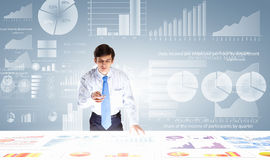Analytics d'affaires Photos stock