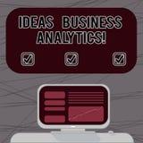 Analytics d'affaires d'idées des textes d'écriture de Word Le concept d'affaires pour l'exploration méthodique d'une organisation photographie stock
