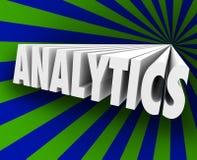 Analytics 3d Word Measure Customer Business Metrics Sales Respon Stock Photography
