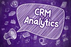 Analytics de CRM - illustration de griffonnage sur le tableau pourpre Image libre de droits