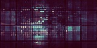 Analytics de données commerciales illustration libre de droits